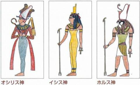 オシリスとイシスとホルス